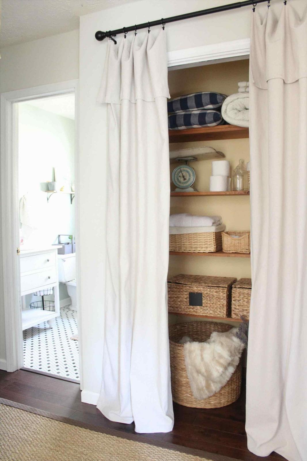 Шторы на шкаф вместо дверок фото