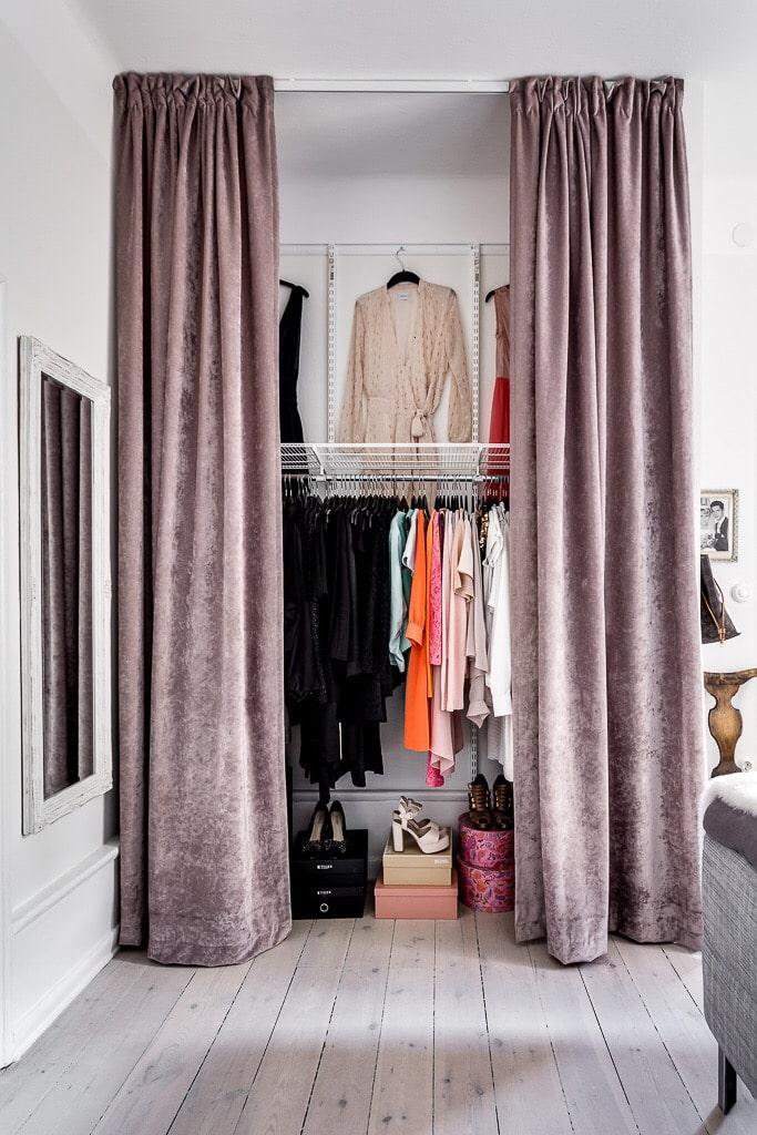 мозжечка гардеробная комната с занавеской фото твоего