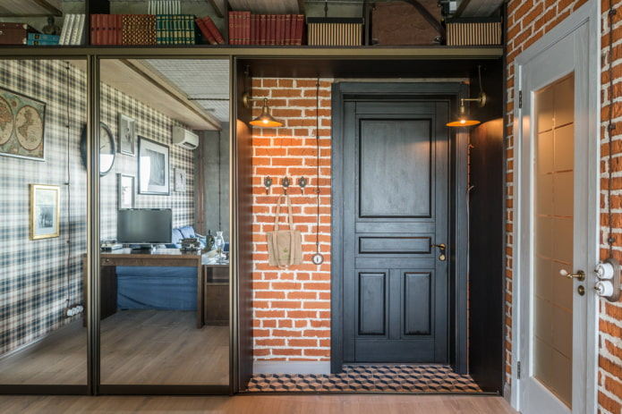 входная дверная модель в стиле лофт