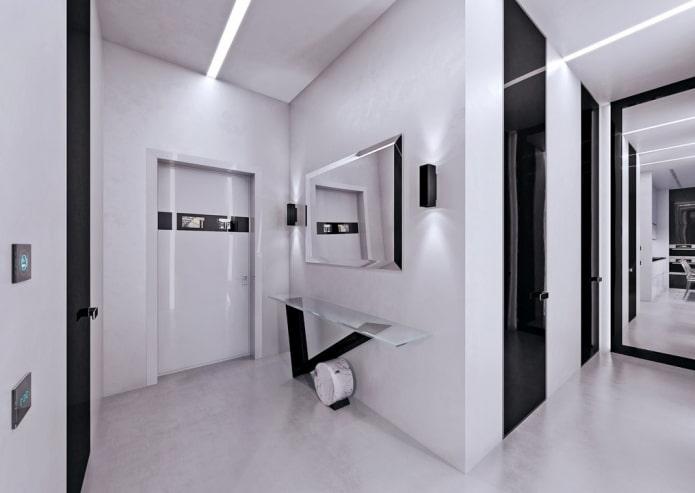 входная дверная модель в стиле хай-тек