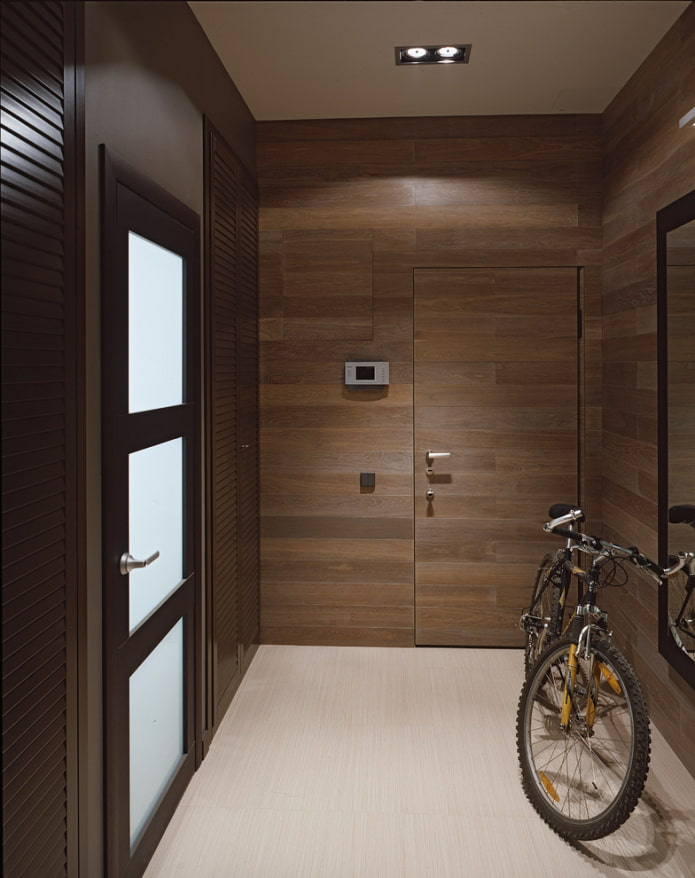 отделка дверей ламинатом в интерьере