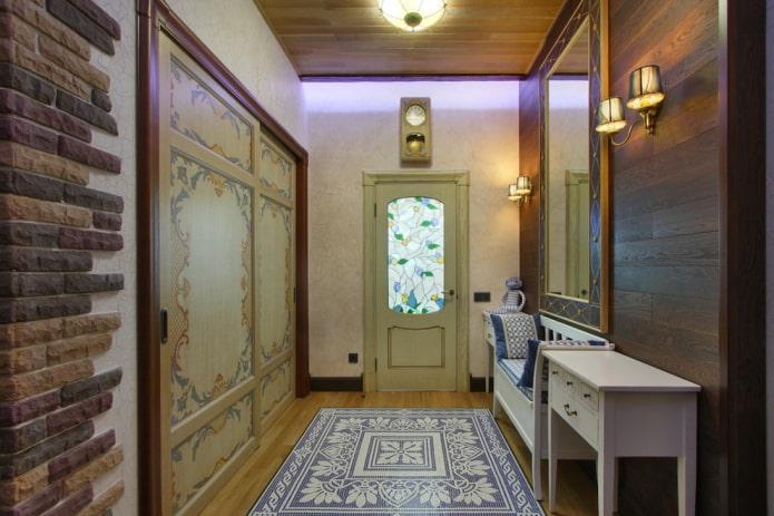 входная дверная модель в стиле прованс