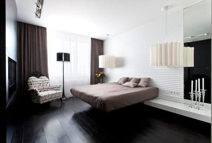 парящая кровать в современном дизайне