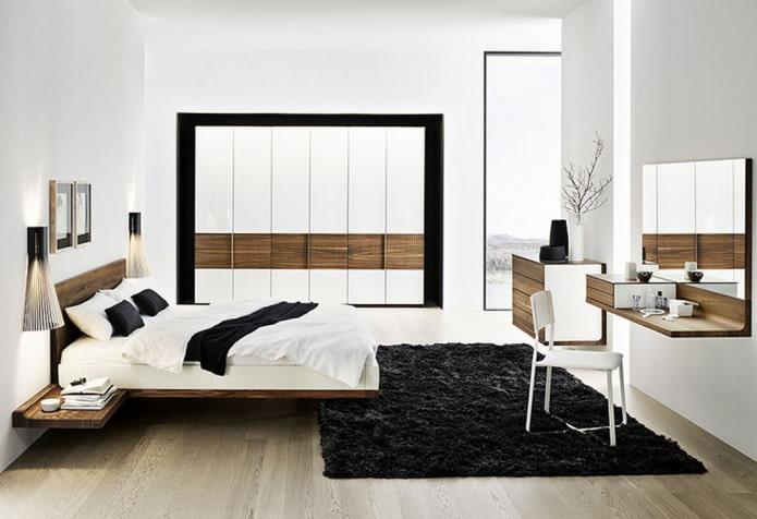 Двуспальная парящая кровать