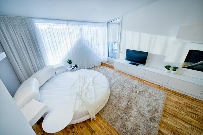 диван-кровать круглой формы