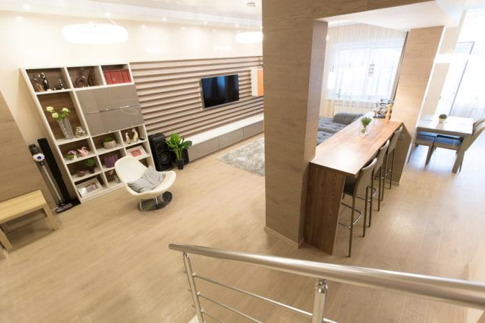 дизайн барной стойки в интерьере зала