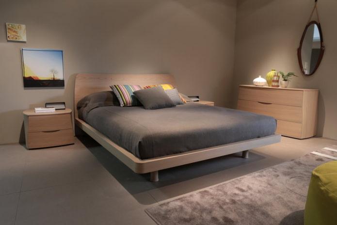 Двуспальная кровать: 80 фото в интерьере, современные идеи оформления