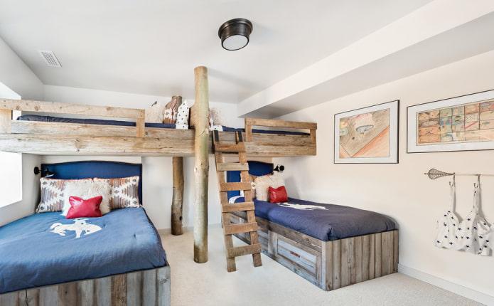 Кровать-чердак: 77 фото в интерьере, идеи для детской, спальни и других комнат
