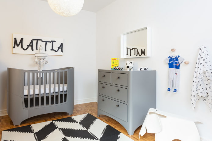 модель для новорожденного мальчика в интерьере