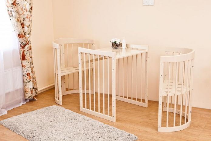 кроватка-трансформер для новорожденных в интерьере