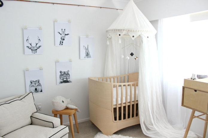 детская кроватка в интерьере детской