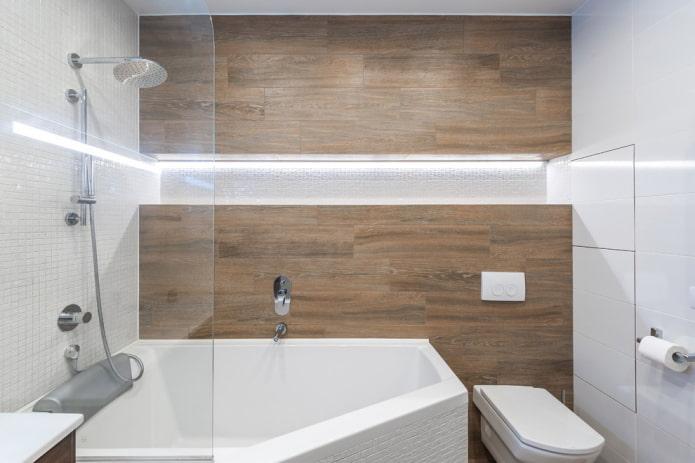 многоугольная правосторонняя ванна