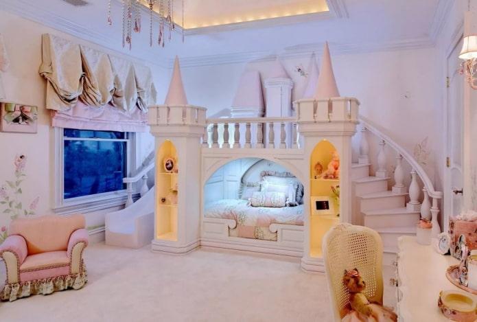 кровать в виде домика в классическом стиле