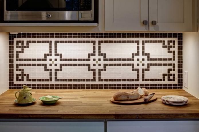 Мозаика в интерьере: варианты отделки, виды, формы плитки, цвет, дизайн и рисунки