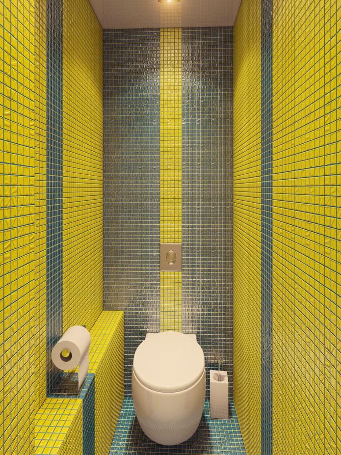 Желтая и серая мозаика