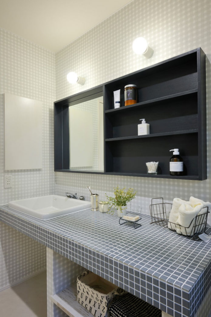 Столешница из плитки – 50 фото в интерьере, идеи для ванной и кухни