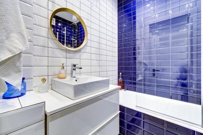 стандартная плиточная раскладка в ванной