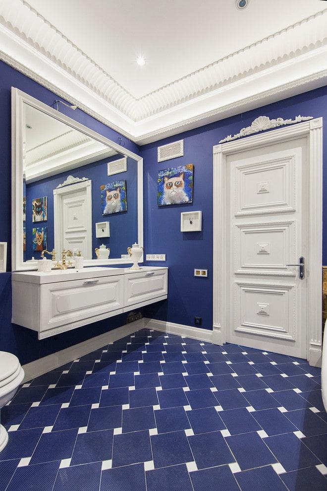 плиточная раскладка на полу в ванной