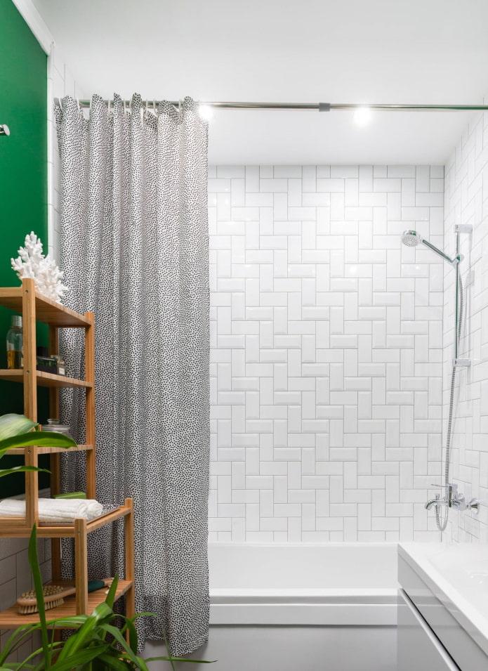модульная плиточная раскладка в ванной