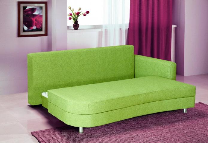 Зеленый диван в интерьере: 76 фото, идеи оформления в гостиной, кухне, детской
