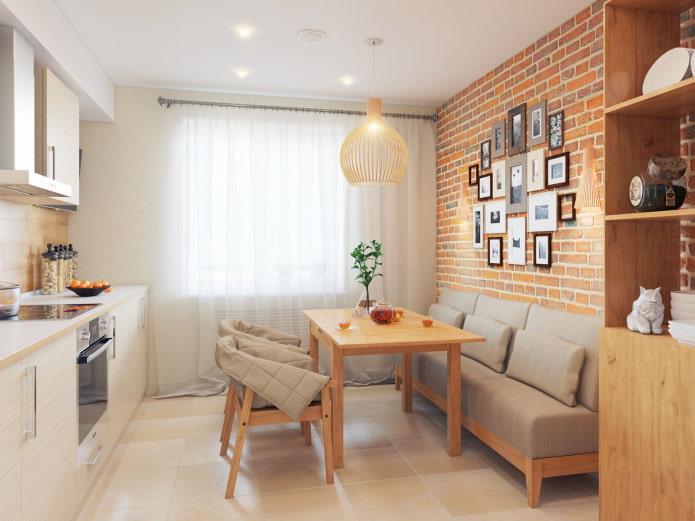 Кухня с диваном: виды, механизмы трансформации, материалы обивки, формы, дизайн, цвета