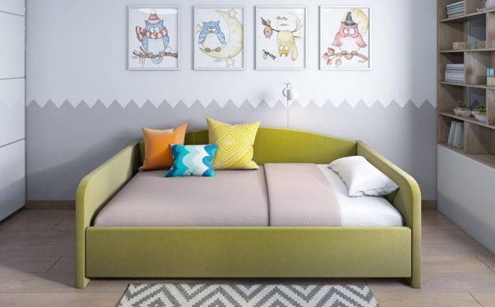 Софа в интерьере: 50 современных фото, идеи для детской, кухни, гостиной