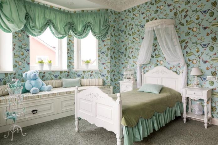 односпальная кровать в интерьере