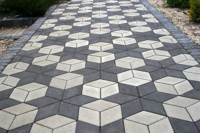 плитка для тротуара в форме ромба
