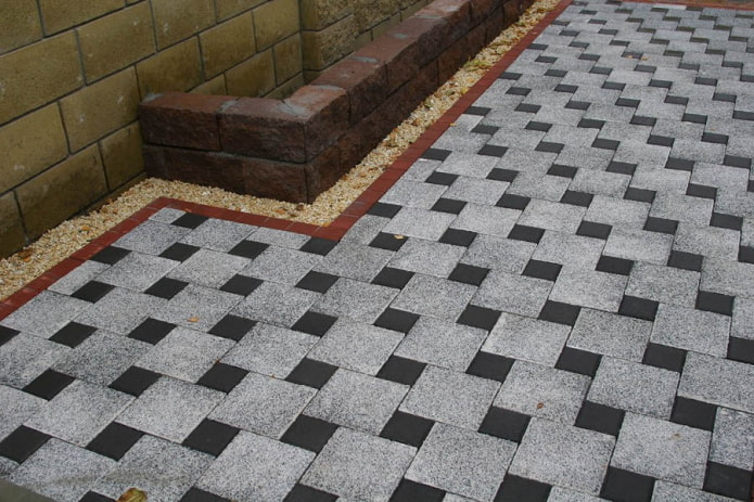плитка для тротуара в форме квадрата