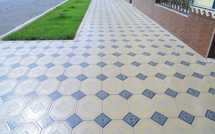 плитка для тротуара в форме восьмигранника
