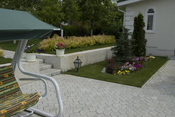 плитка для тротуара в форме чешуи