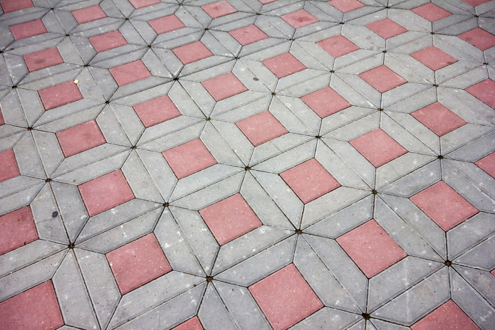 плитка для тротуара в форме трапеции