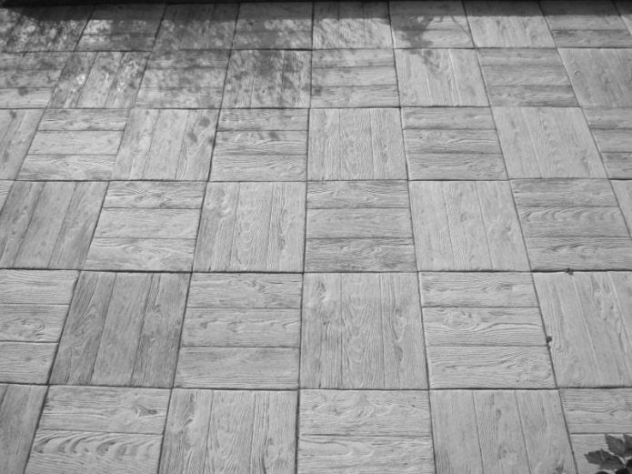 плитка для тротуара с текстурой дощечки