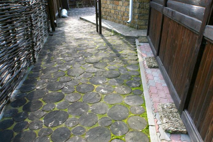 плитка для тротуара с текстурой под дерево