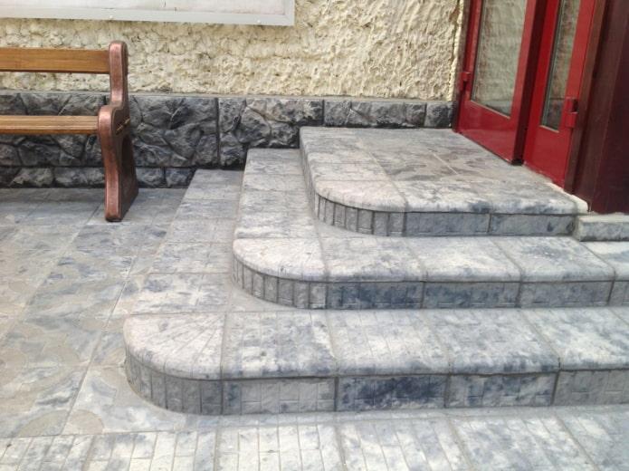 плитка для тротуара с текстурой под мрамор