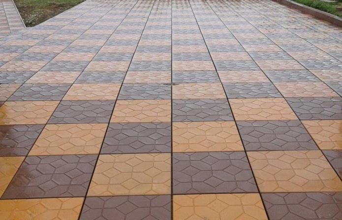 плитка для тротуара с текстурой ковер