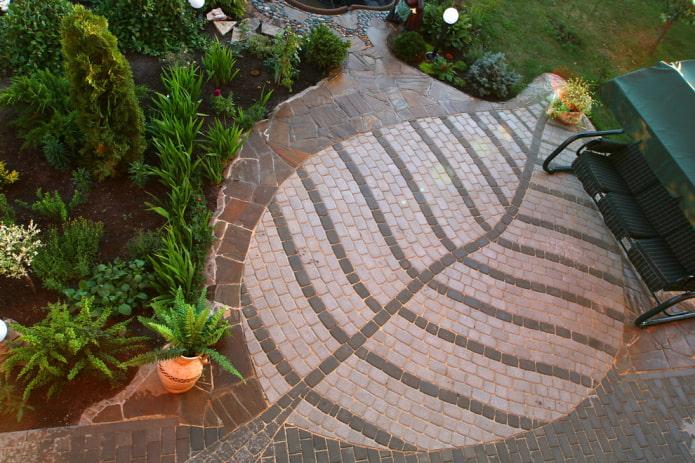 плитка для тротуара с узорами