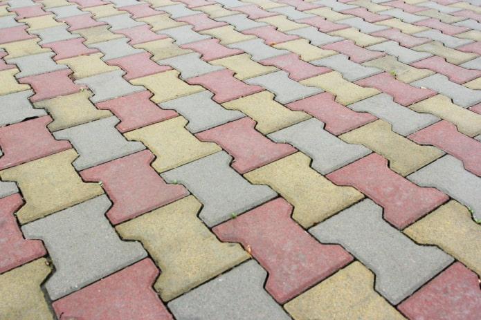 плитка для тротуара в форме катушки