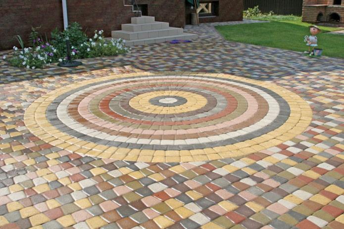 мозаичная плитка для тротуара