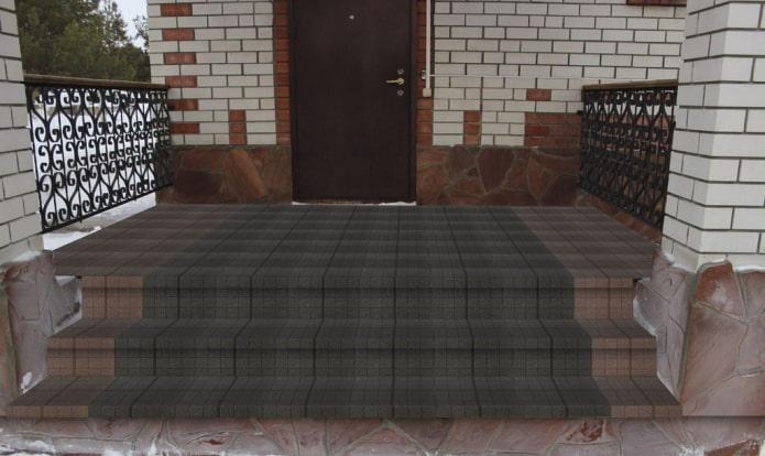 плитка для тротуара с текстурой сетка