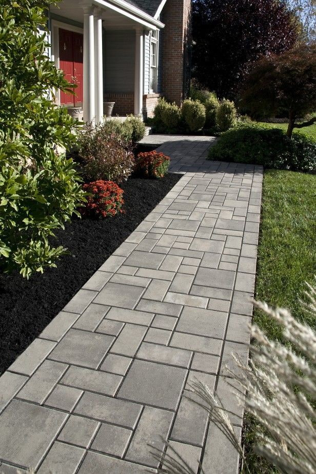 плитка для тротуара серого цвета