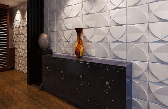 дизайн плитки из гипса в интерьере