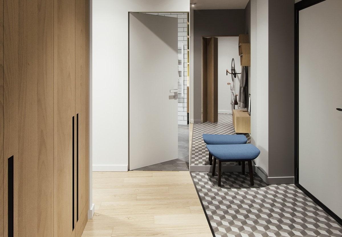картинки ламината с плиткой в коридоре фото светлые