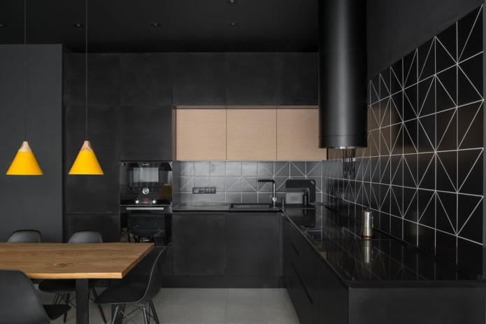 затирка для плитки черного цвета в интерьере