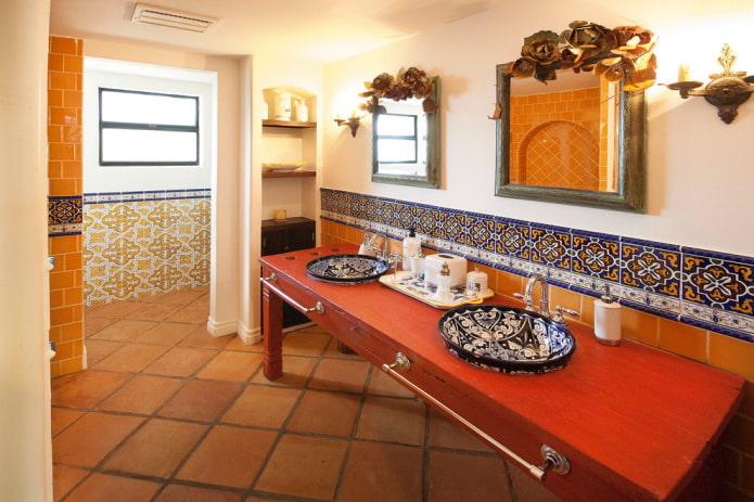 плитка для пола в интерьере в средиземноморском стиле