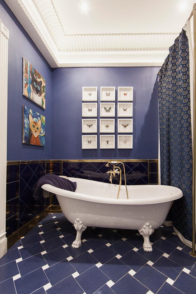 плитка с декором в интерьере ванной