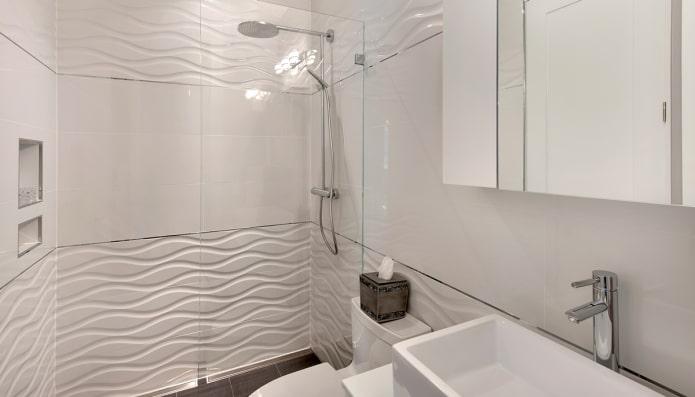 3д плитка в интерьере ванной