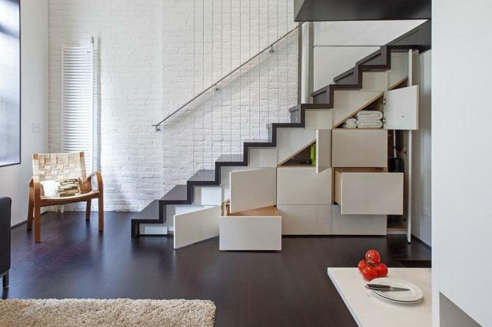 Шкаф под лестницей: 40 фото в интерьере, примеры дизайна