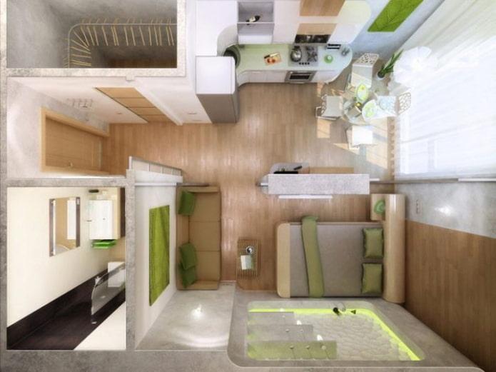 Дизайн квартиры-студии 30 кв. м. – фото интерьера, идеи расстановки мебели, освещение