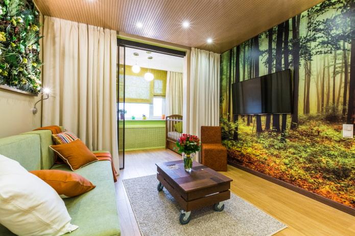 детский уголок в интерьере квартиры-студии